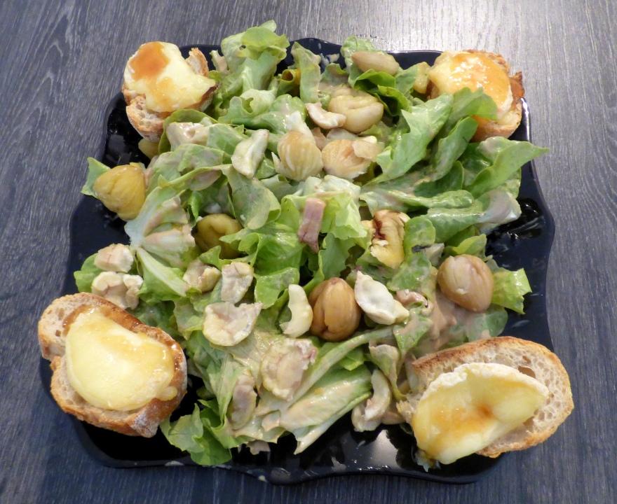 la recette traditionnelle de la salade cévenole