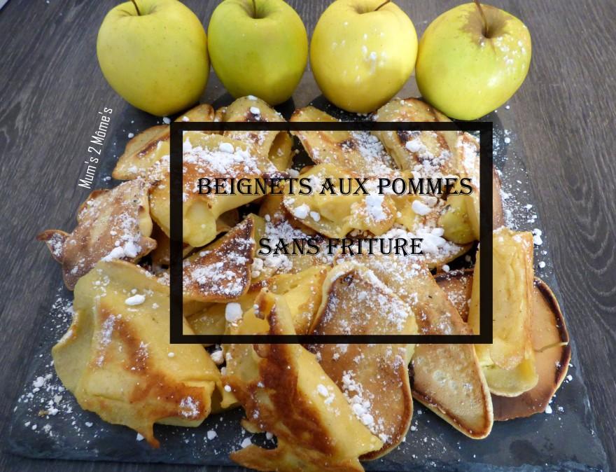 beignets aux pommes sans friture