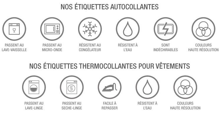 les etiquettes de chez pepahart sont autocollantes et thermocollantes